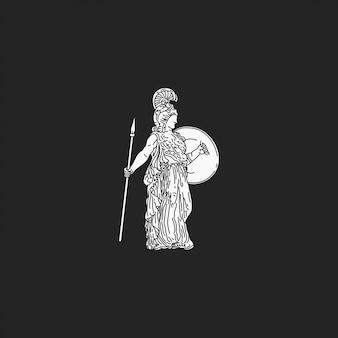 Het romeinse meisjesstandbeeld