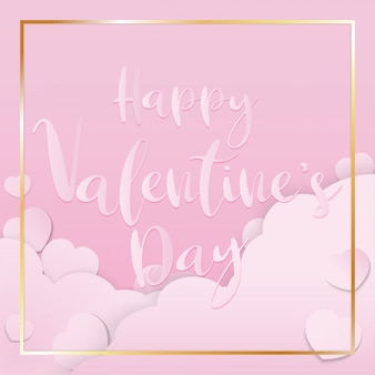 Het roze valentijn papier gesneden voor valentijnsdag inhoud.
