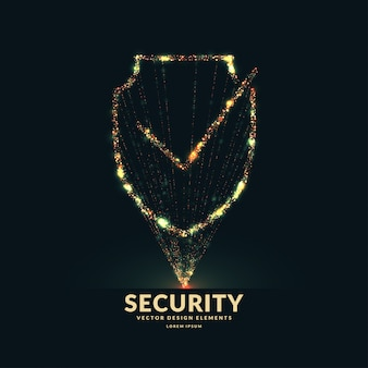 Het schild is een symbool van veiligheid en betrouwbaarheid.