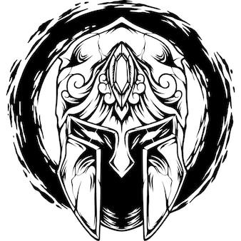 Het silhouet van de spartaanse helm