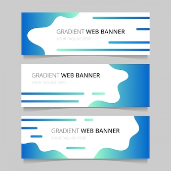 Het sjabloon van het gradiënte webbanners