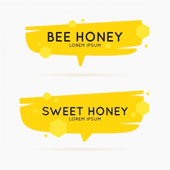Het sjabloon voor de producten van de bijenstal. stijlvolle vector poster voor bijenhoning.