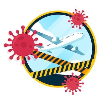 Het sluiten van luchthavens en vakanties vanwege pandemie