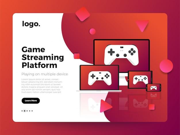 Het spelplatform van het illustratiesconcept platform