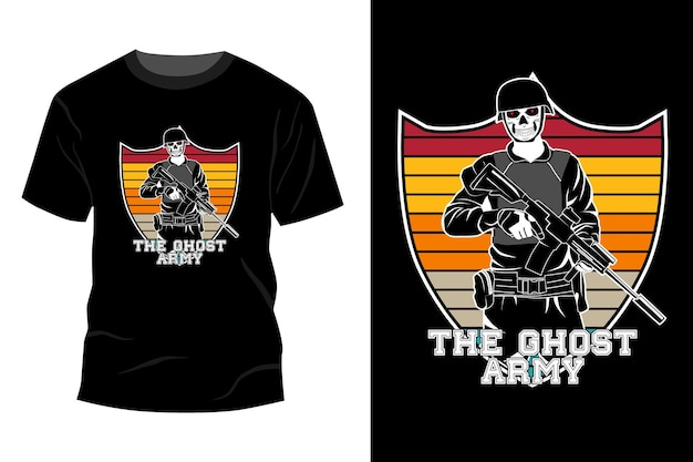 Het spookleger t-shirt mockup ontwerp silhouet