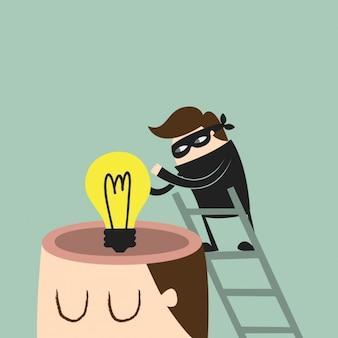 Het stelen van een idee ontwerp