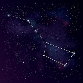 Het sterrenbeeld grote beer (met lijnen)