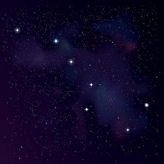 Het sterrenbeeld grote beer. sterrenachtergrond met big dipper-constellatie. sterren behang. illustratie van het sterrenbeeld ursa major voor uw project.