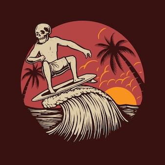 Het surfen op de zomer
