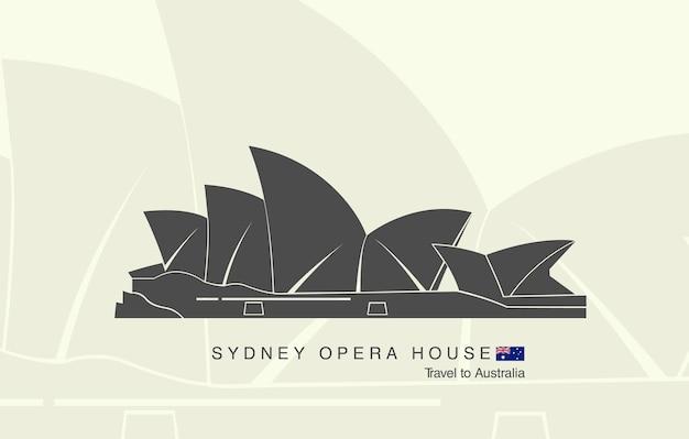 Het sydney opera house in australië.