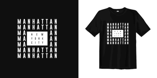Het t-shirtontwerp van manhattan new york city