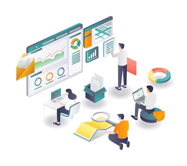 Het team maximaliseert marketing met de gps-app