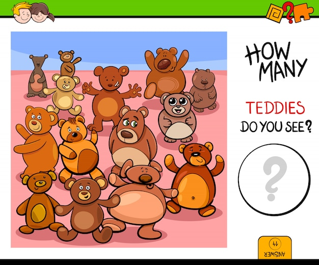 Het tellen van het educatieve spel van teddyberen
