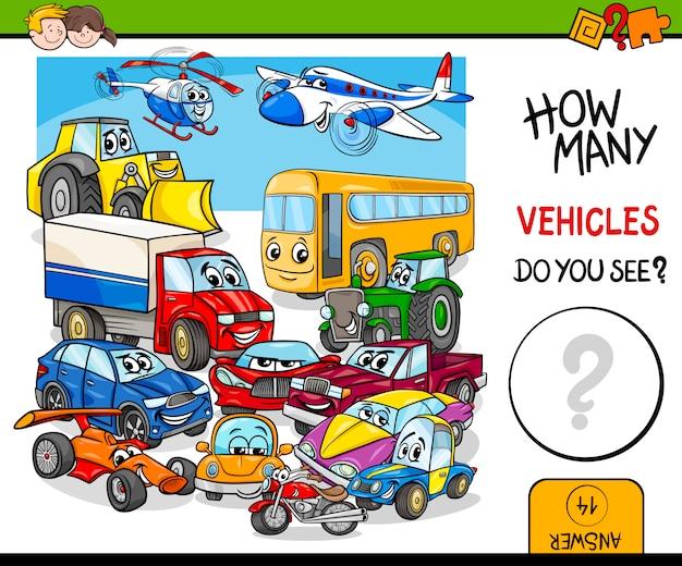 Het tellen van voertuigen educatieve activiteit
