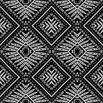 Het textiel moderne vector naadloze patroon van rookindia
