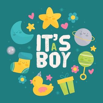 Het thema van het de jongensevenement van de babyjongen