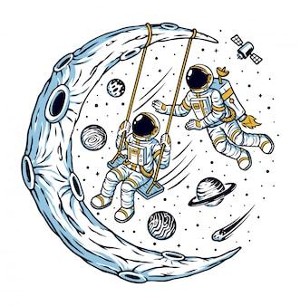 Het universum is mijn speeltuin-illustratie