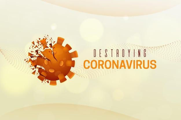 Het vernietigen van de coronavirus-achtergrond