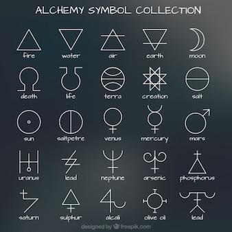 Het verzamelen van de alchemie symbool