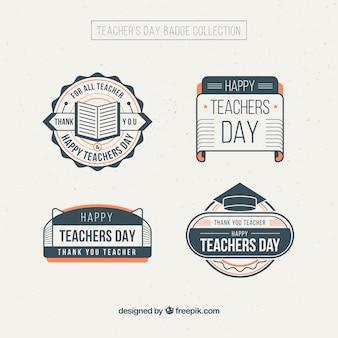 Het verzamelen van de dag vintage leraar stickers