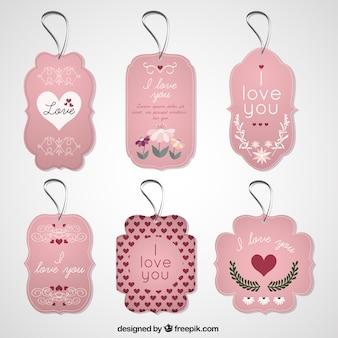 Het verzamelen van de liefde-tags