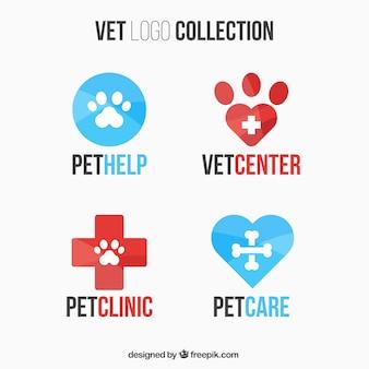 Het verzamelen van dierenarts logos