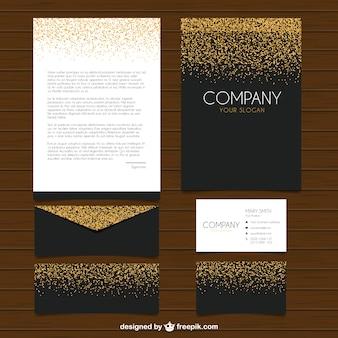 Het verzamelen van elegante briefpapier met glitter