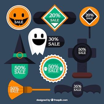 Het verzamelen van etiketten voor halloween