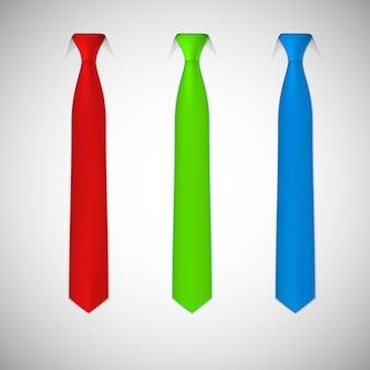 Het verzamelen van gekleurde stropdassen