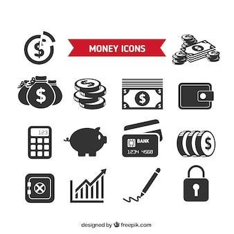 Het verzamelen van geld pictogrammen