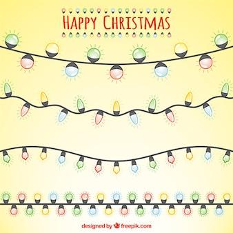 Het verzamelen van kerst decoratie met string ligthts