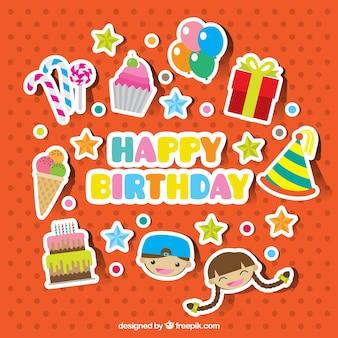 Het verzamelen van mooie verjaardag stickers