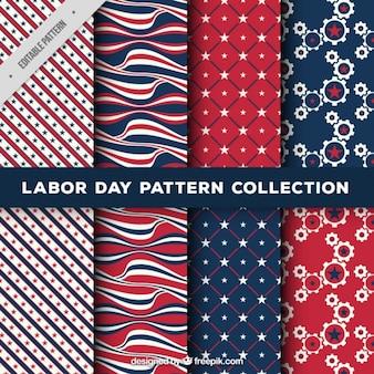 Het verzamelen van patronen voor dag van de arbeid