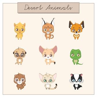 Het verzamelen van schattige dieren stickers
