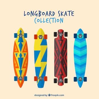 Het verzamelen van skateboard in plat design