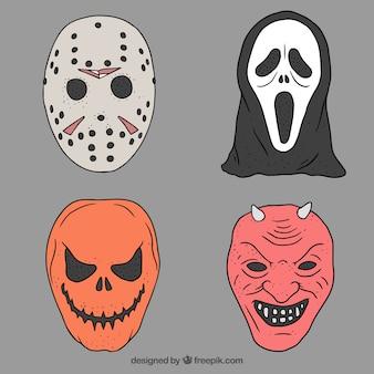 Het verzamelen van spooky tekens voor halloween