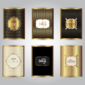 Het verzamelen van stijlvolle gouden brochure ontwerpen