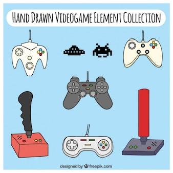 Het verzamelen van video game-elementen tekeningen
