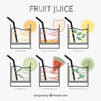 Het verzamelen van vruchtensappen