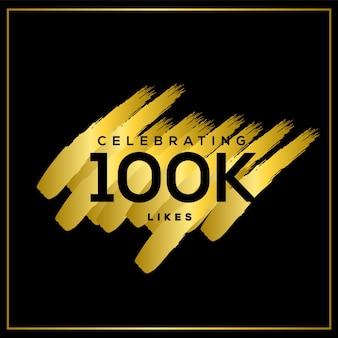 Het vieren van 100k likes