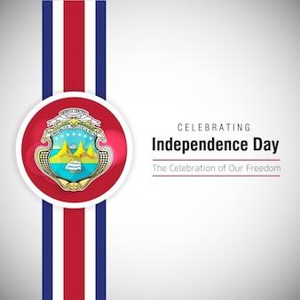 Het vieren van costa rica independence day