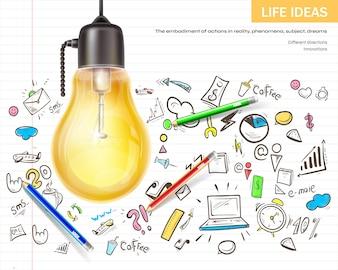 Het visualiseren van ideeën brainstormen