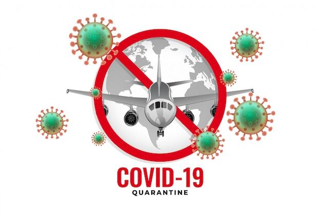 Het vliegtuig is gestopt met vliegen vanwege een uitbraak van het coronavirus