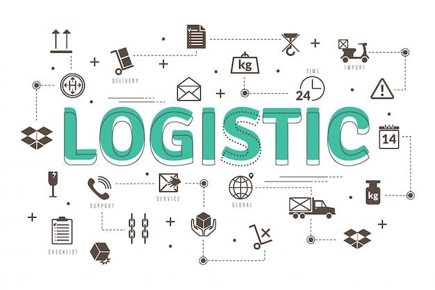 Het vrachtvervoer ondertekent symbolenillustratie