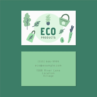 Het vriendschappelijke tweezijdige visitekaartje van eco