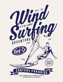 Het windsurfen