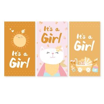 Het zijn een meisjeskaarten