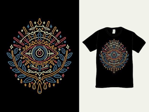 Het zonneschijnoog van het ontwerp van de hoopt-shirt