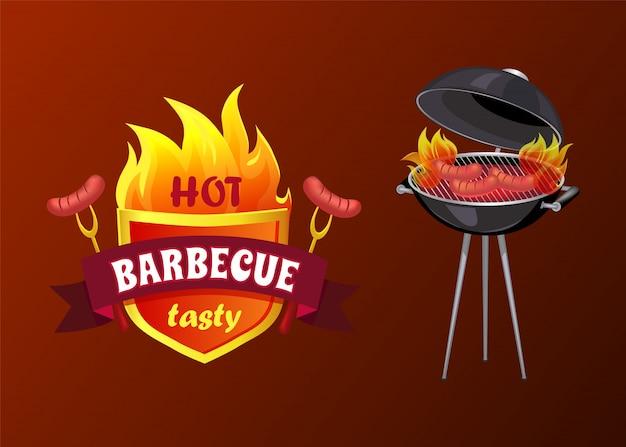 Hete barbecue feestworsten