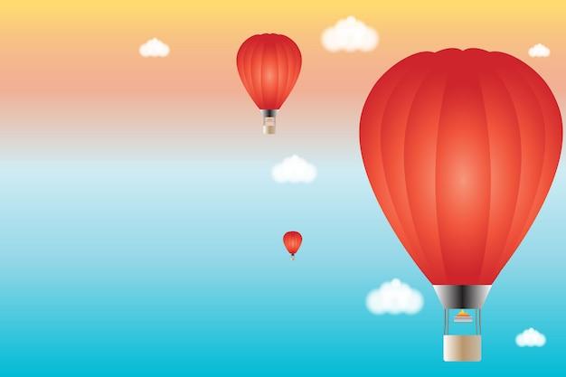 Hete lucht ballon achtergrond